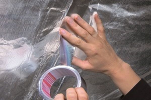 Polyester adhesive tape for tarp splicing