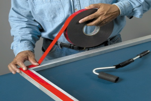 Double sided-foam adhesive tape on aluminium profile