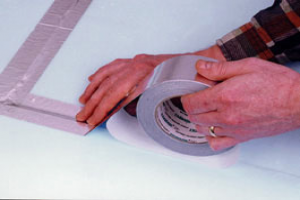 Application of a Single sided aluminium tape : high temperature splicing