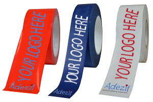 Printed adhesive tape with differents colours