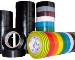 Plastic-coated PVC adhesive tape with a wide range of colours for electricians