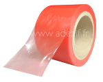 Red translucent adhesive film for surface protection with medium adhesion PS650
